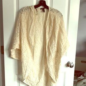 Lace drape cardigan